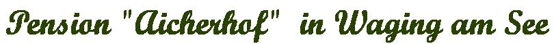 Urlaub Aicherhof Logo